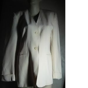 Jones New York Cream Blazer Size 4